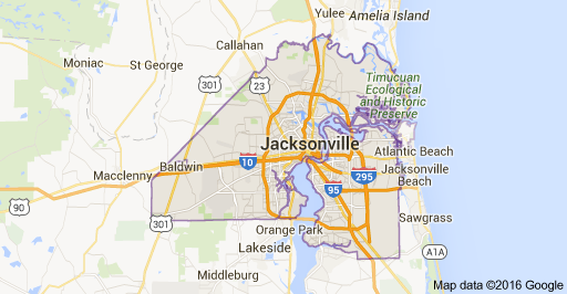 Jacksonville Map Picture